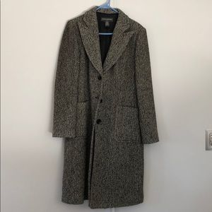 Gray pea coat. Banana republic. Lightly worn.